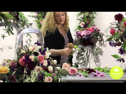 Inspired Floral Design with Beth O'Reilly: Marsala Spring Wedding
