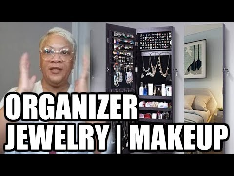 AMAZING JEWELRY AND MAKEUP ORGANIZER AMOIRE - BEAUTY BARGAIN BUYS - How To Install on Door