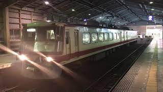 富山地方鉄道16010形 16012F 普通 岩峅寺行き 電鉄富山発車