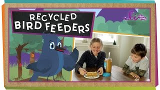 Make Your Own Recycled Bird Feeders - #sciencegoals
