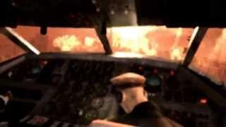 Сцена крушения самолета в Metro Last Light