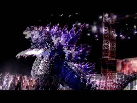 Huge Godzilla Display in Tokyo
