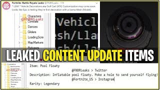 *NEW* Fortnite: LEAKED CONTENT UPDATE ITEMS! | (Pool Floaty, Golf Kart Re-vamp, and more!)