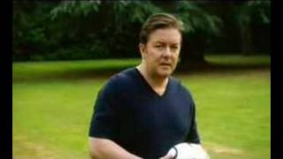 Ricky Gervais meets Crouch and Rooney