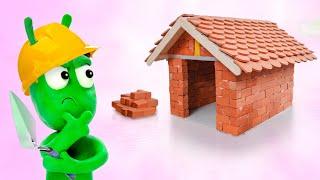 PEA PEA Build New House - Stop Motion Play Cartoon Doh