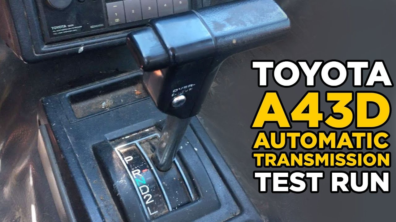 Toyota Pickup A43d Automatic Transmission With Overdrive Shifting Youtube