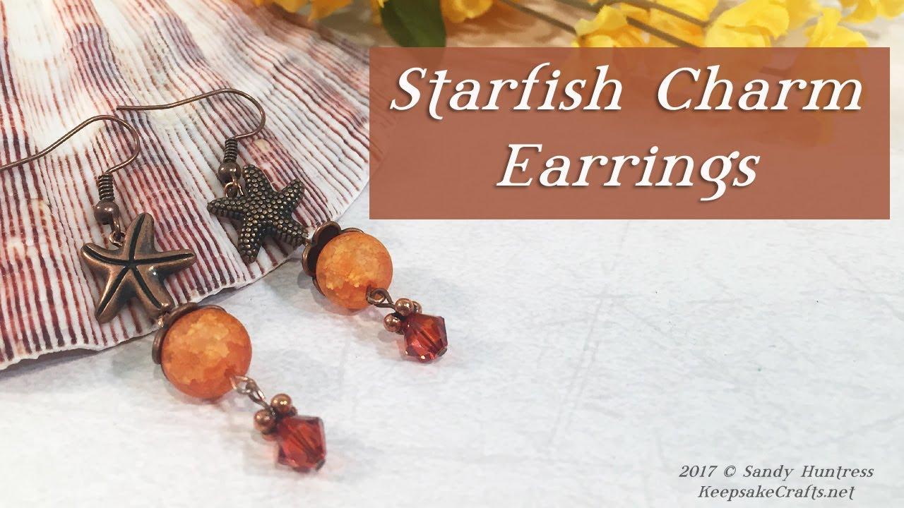 Starfish Charm EarringsJewelry Design Tutorial YouTube