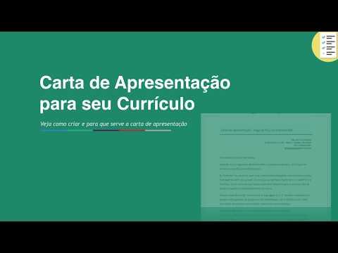 Видео Modelos de carta de apresentação para curriculo