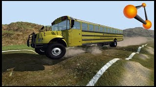 SMASHING SCHOOL BUS OFFROAD - BeamNG.drive