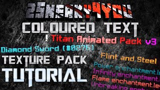 ★ How to Create Colored Text - Minecraft Texture Pack Tutorial - 1.7 1.8 1.9