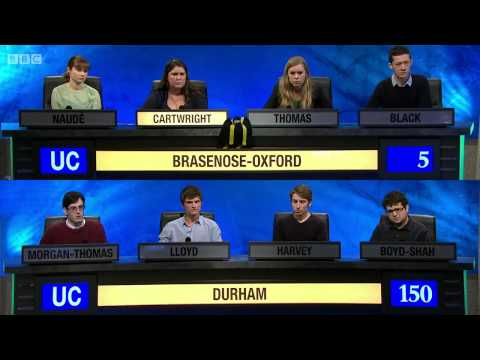 University Challenge S44E12 Durham vs Brasenose-Oxford