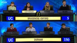 University Challenge S44E12 Durham vs Brasenose-Oxford