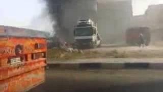شاهد.. حريق معرض للسيارات على طريق الإسكندرية الصحراوي