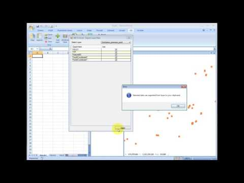 GIS.XL - Export ShapeFile data to Excel table