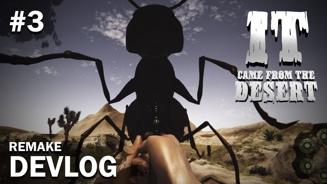 It Came From The Desert Remake Devlog 3 First Person Ant Shooting Minigame Youtube