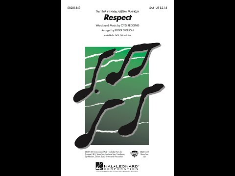 Respect (SAB) - Arranged by Roger Emerson