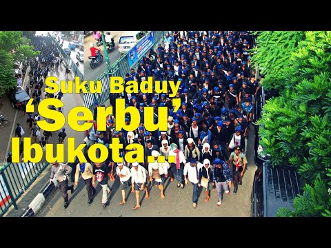 Ribuan Warga Suku Baduy Bersama-sama 'Serbu' Ibukota Provinsi Banten