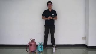 台灣和泰興業大金空調-R410A冷媒u0026R32冷媒 安全燃燒測試影片