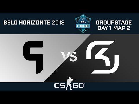 CS:GO - Ghost Gaming vs SK Gaming - Dust 2 - ESL One Belo Horizonte 2018 - Map 2