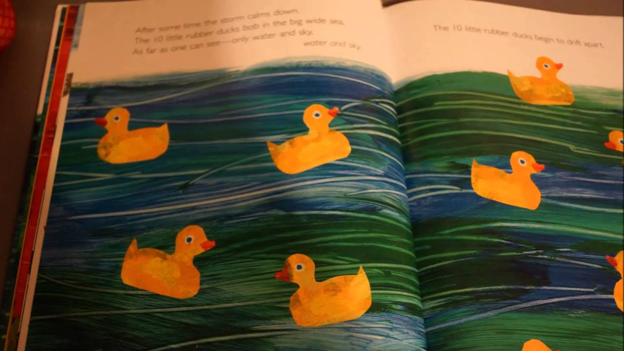 Reading Of Eric Carle S 10 Little Rubber Ducks Youtube