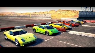 World's Greatest Drag Race! FASTEST Lamborghini's All in One Race | Forza Motosport 4