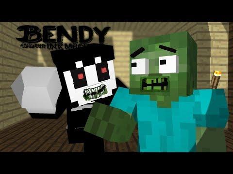 Moster School : BENDY CREEPY HORROR GAME  - Minecraft Animation