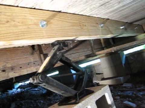 Fixing Sagging And Rotten Floor Joists Youtube