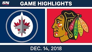 NHL Highlights | Jets vs. Blackhawks - Dec 14, 2018