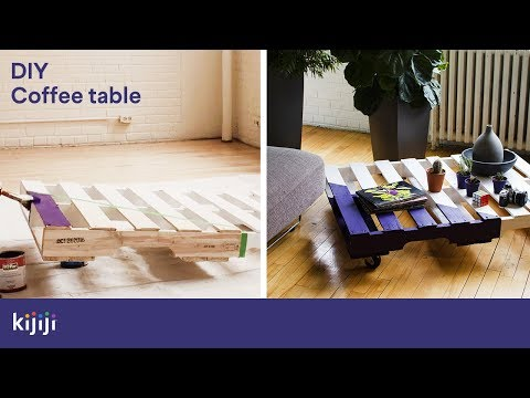 How To Make A Wood Pallet Coffee Table Diy Kijiji Canada