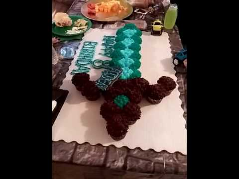 Minecraft Diamond Sword Cake.