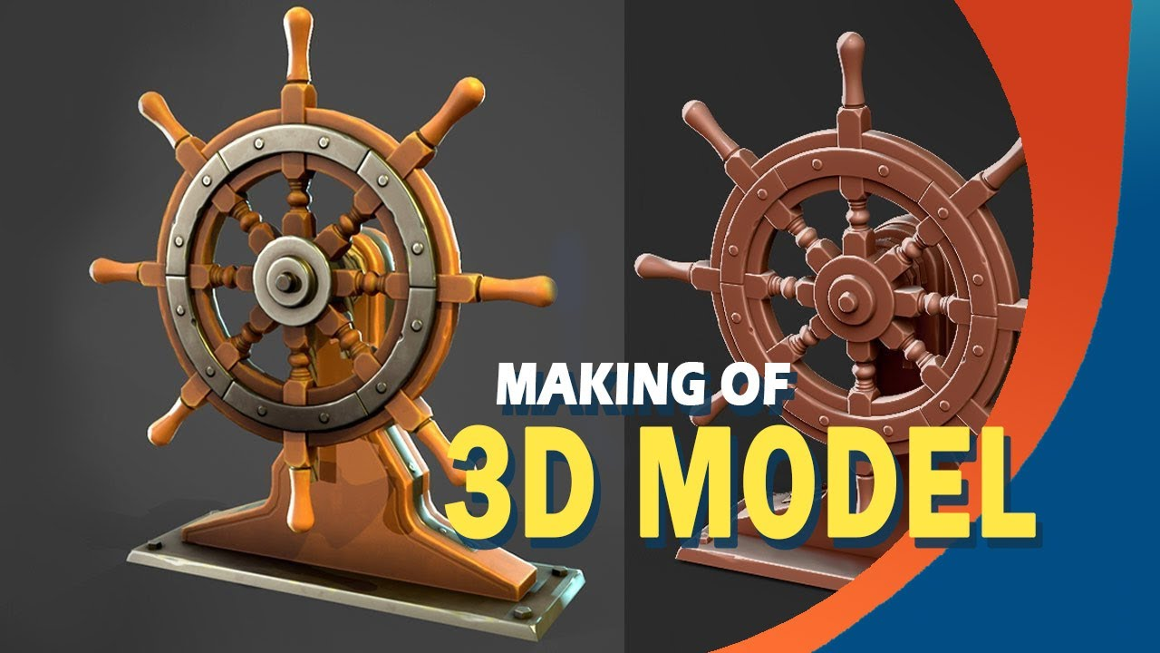 Как создать стилизованное колесо корабля с помощью Maya, Zbrush и Substance Painter