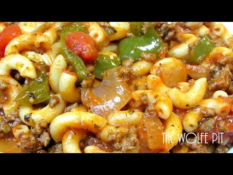 American Chop Suey Recipe - How To Make Classic American Chop Suey
