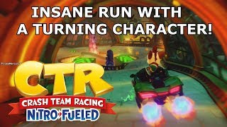 Crash Team Racing Nitro Fueled: INSANE RUN WITH A TURNING CHARACTER ONLINE! (Must see!)