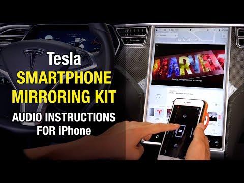 Tesla Smartphone Mirroring Kit [Audio Instructions for iPhone User]  Youtube Netflix