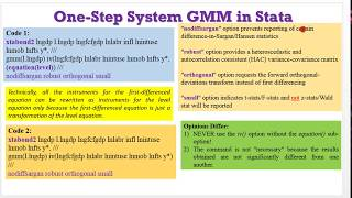 (Stata13): How to Estimate One-Step System GMM #gmm #onestepgmm #twostepgmm #yeardummies