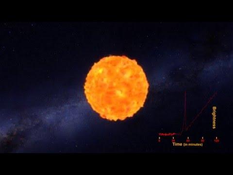 Caught: A supernova shock breakout