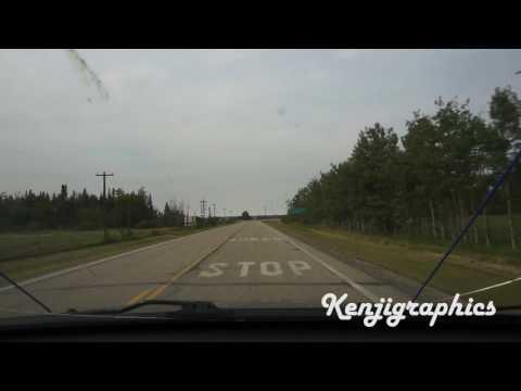 Drive from Crooked Creek, Alberta to Oriental Wok in Grande Prairie, Alberta
