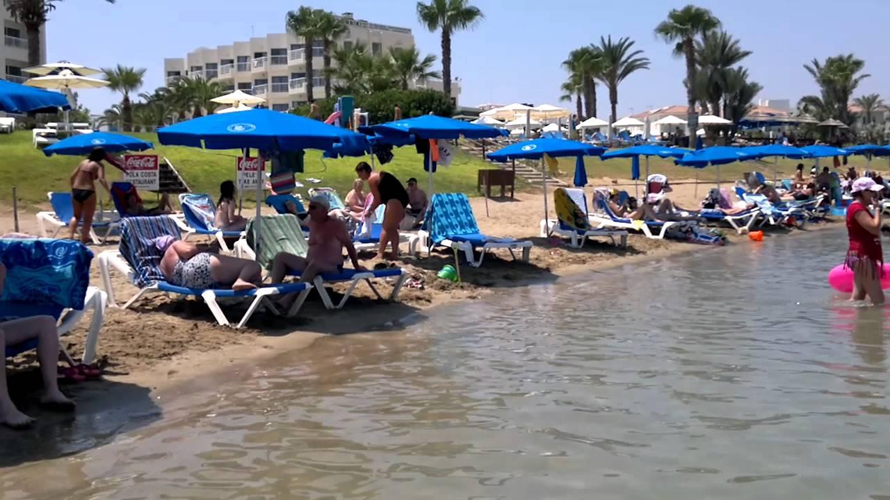 Pernera beach near Protaras August 2011  YouTube