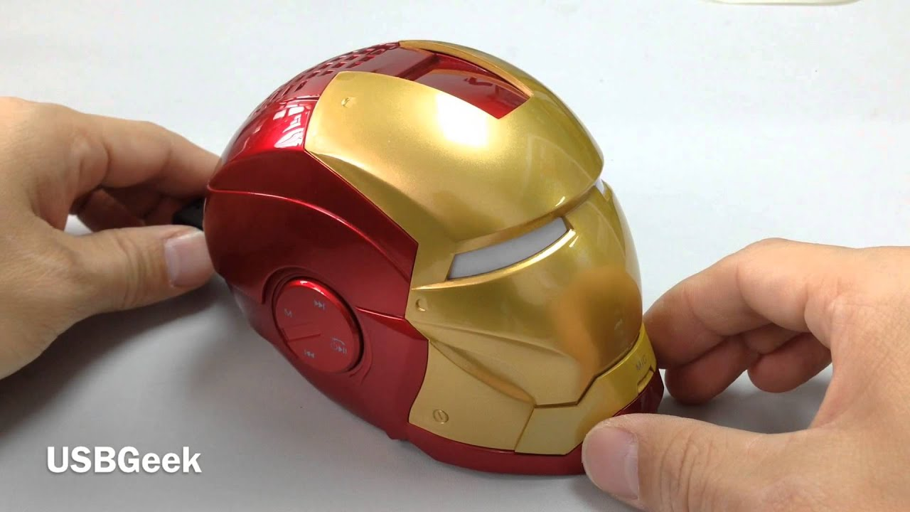 Iron Man Bluetooth Speaker With Handsfree Youtube Mouse Game Wireless