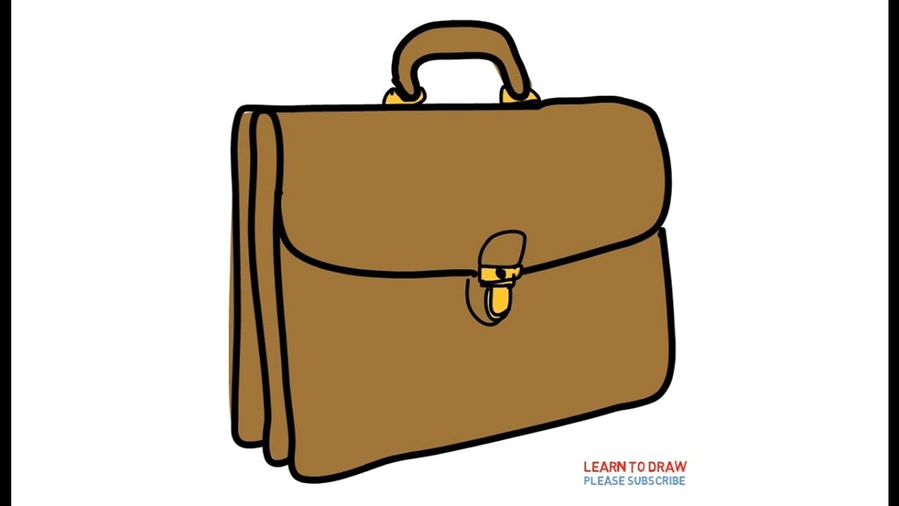 How To Draw a Briefcase Easy Step By Step