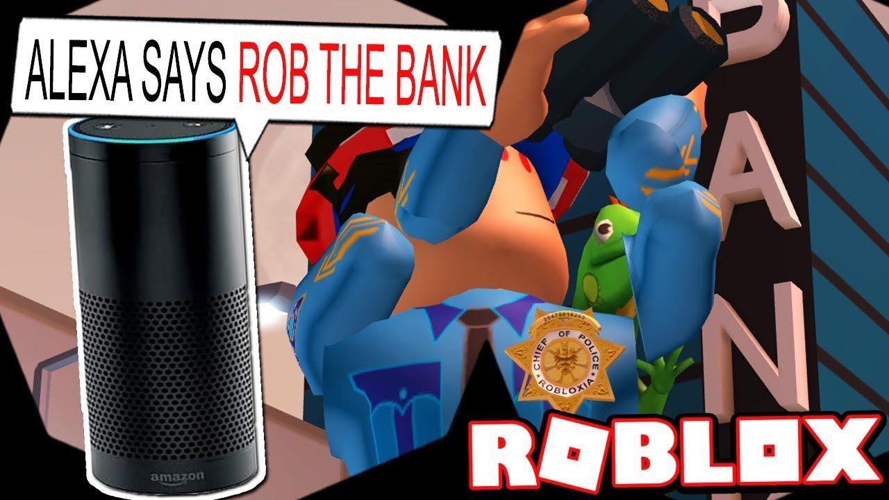 AMAZON ALEXA PLAYS ROBLOX JAILBREAK!!! - YouTube