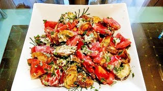 Готовим салат с жареными кабачками!!!!Это очень вкусно!!!