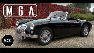 MG MGA ROADSTER 1959 - Full test drive in top gear - Engine sound | SCC TV