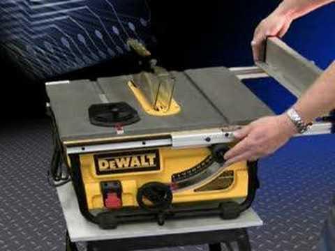 Dewalt Dw745 Portable Table Saw Youtube