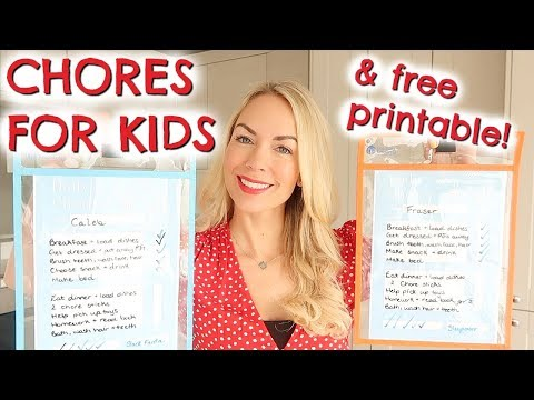 DIY CHORE CHARTS | KIDS CHORE SYSTEM & FREE PRINTABLE
