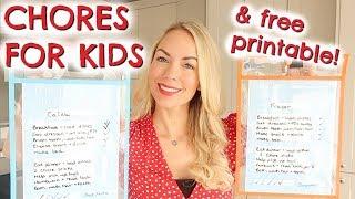 DIY CHORE CHARTS   KIDS CHORE SYSTEM & FREE PRINTABLE