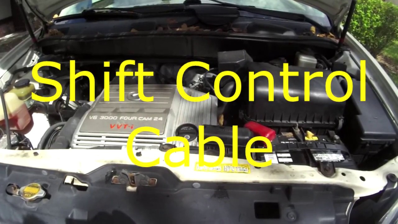 hight resolution of 1999 lexus rx300 shift control cable replacement repair interior