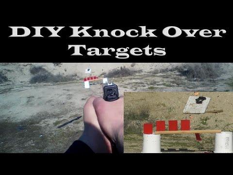 "DIY 1/4"" mild steel plate shooting knock over targets"