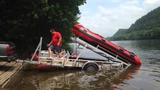 Loading Both Inflatable Boats - Clinton Twp. Vol. Fire Co.