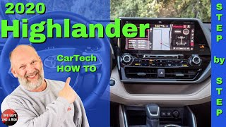 Infotainment How To - 2020 Toyota Highlander Platinum